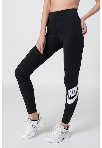 Nike Colanti cu logo si talie inalta pentru fitness Femei