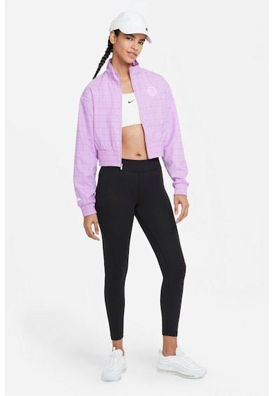 Nike Colanti crop cu talie medie pentru fitness Essential Femei