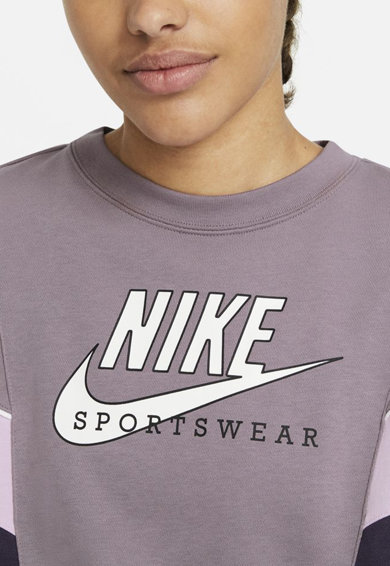 Nike Bluza sport cu decolteu la baza gatului Heritage Femei
