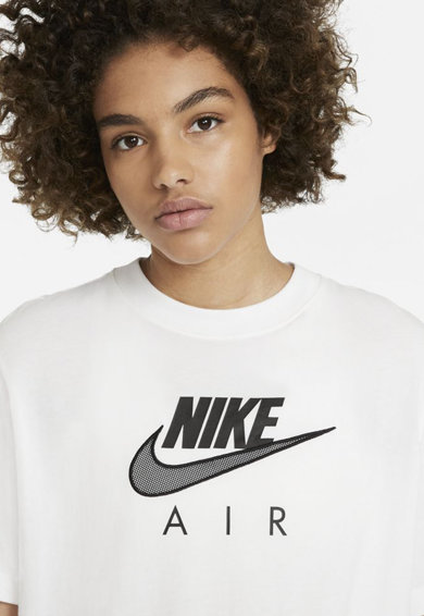 Nike Tricou cu decolteu la baza gatului si imprimeu logo Air Femei