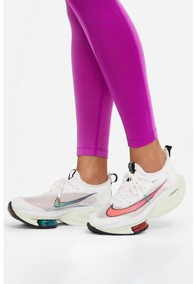 Nike Colanti cu talie inalta, tehnologie Dri-Fit si imprimeu logo pentru alergare Fast Run Division Femei
