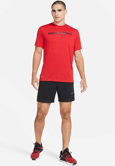 Nike Tricou cu tehnologie Dri-Fit si imprimeu logo, pentru fitness Pro Barbati