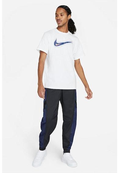 Nike Tricou cu decolteu la baza gatului si imprimeu logo Swoosh Barbati