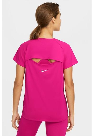 Nike Tricou cu decupaj pe partea din spate, pentru alergare Icon Clash Miller Femei