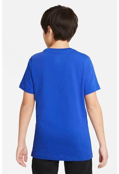 Nike Tricou cu decolteu la baza gatului si imprimeu logo Baieti