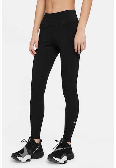 Nike Colanti cu talie inalta si tehnologie Dri-Fit, pentru fitness One Femei
