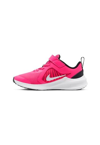 Nike Pantofi sport de piele cu detalii contrastante si velcro Downshifter 10 Fete