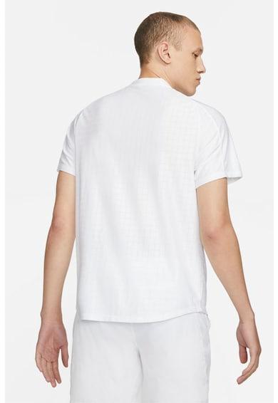 Nike Tricou cu tehnologie Dri-Fit si decolteu henley, pentru tenis Court Advantage Barbati