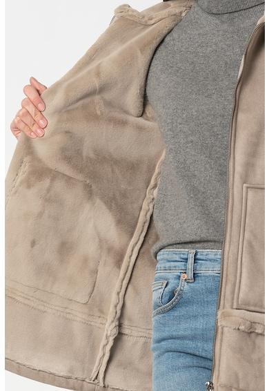 FEDERICA COSTA Jacheta din piele sintetica de oaie Femei
