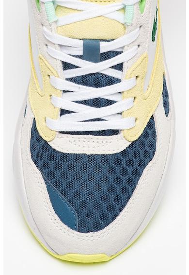 Lacoste Pantofi sport cu model colorblock si detalii de plasa si piele intoarsa Storm 96 Femei