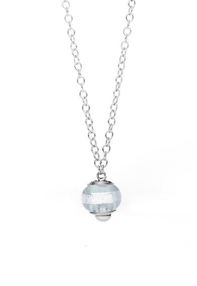 Valentina Beads Colier de argint cu pandantiv de sticla murano Femei