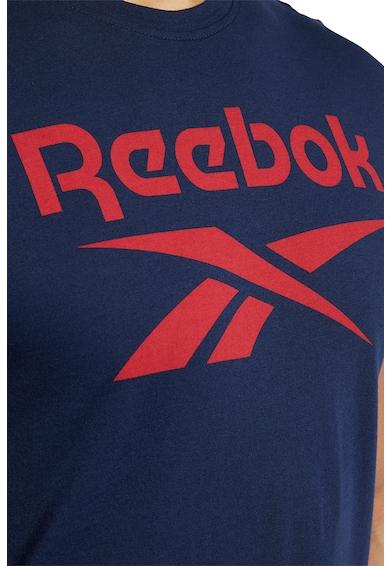 Reebok Tricou slim fit de bumbac, pentru fitness Stacked Barbati