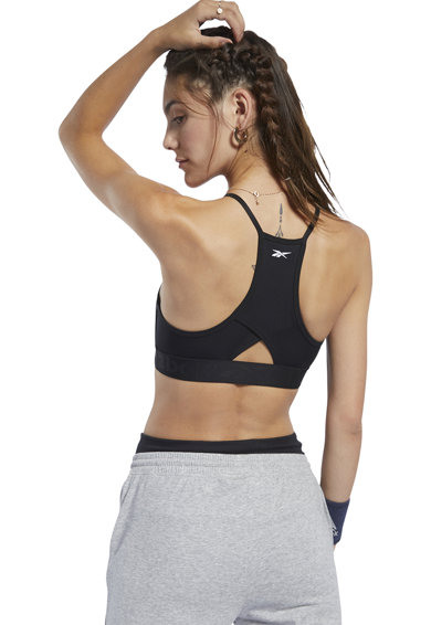 Reebok Bustiera cu sustinere minima, pentru fitness Femei