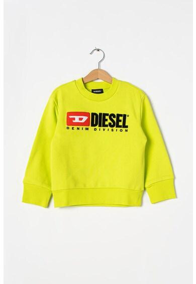 Diesel Bluza sport cu decolteu la baza gatului si logo Division Fete