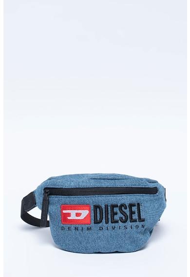 Diesel Borseta din denim cu logo brodat Fete