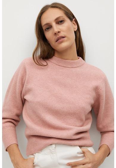 Mango Pulover tricotat fin cu model incrucisat pe partea din spate Arena Femei