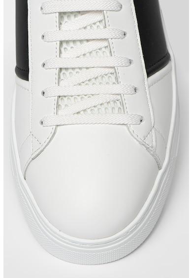 Emporio Armani Pantofi sport low-cut de piele si piele ecologica Barbati