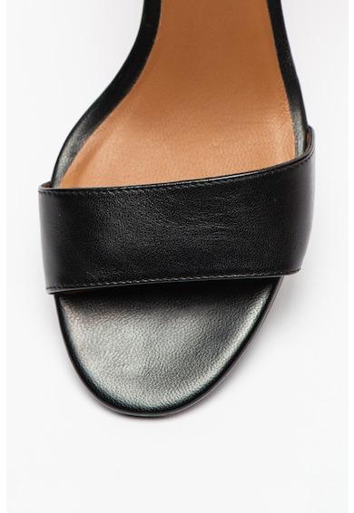 Emporio Armani Кожени сандали с масивен ток Жени