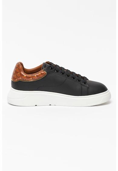 Emporio Armani Pantofi sport din piele si garnitura contrastanta Femei