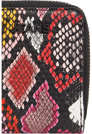 Tommy Jeans Portofel mic de piele ecologica cu aspect de piele de reptila Femei