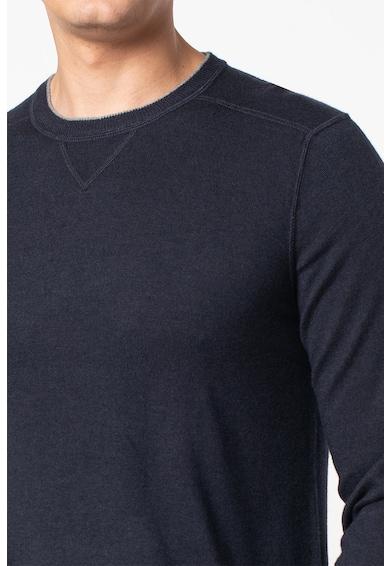 PIOMBO Pulover din amestec de lana cu aspect de tricotat fin Barbati