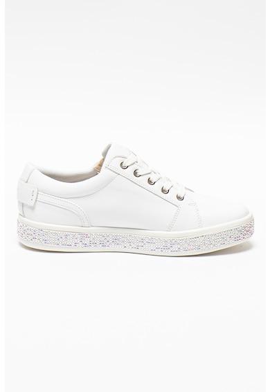 Geox Pantofi sport de piele cu strasuri pe talpa Leelu Femei