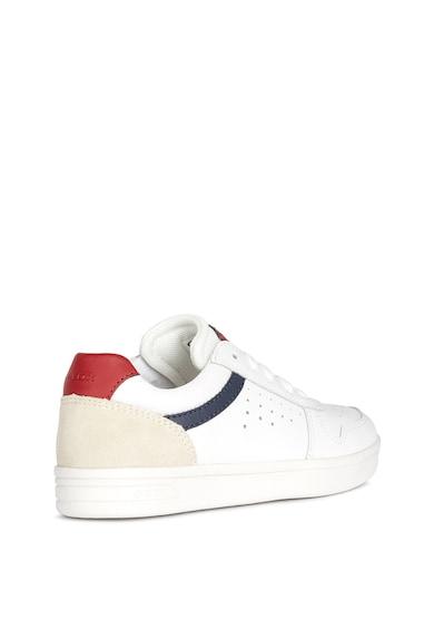 Geox Pantofi sport din piele cu insertii din piele intoarsa Fete