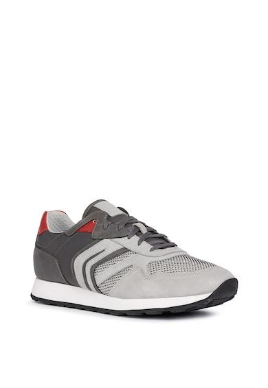 Geox Pantofi sport cu insertii de piele intoarsa si plasa Barbati