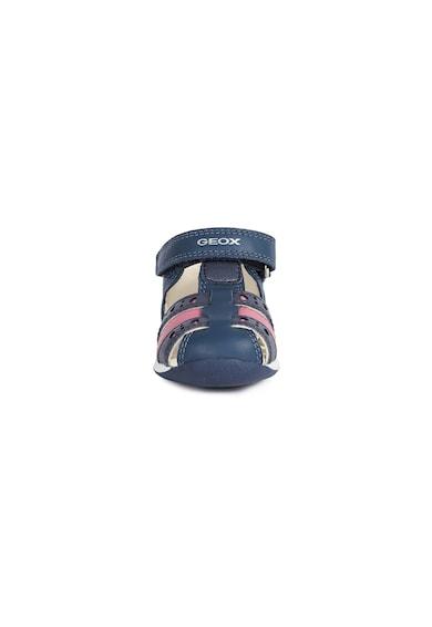 Geox Sandale de piele si piele ecologica cu detalii perforate Flicka Fete