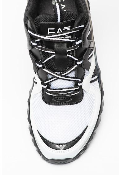 EA7 Pantofi sport de plasa cu garnituri de piele ecologica Femei