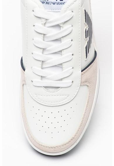 EA7 Pantofi sport unisex cu detalii de piele Femei