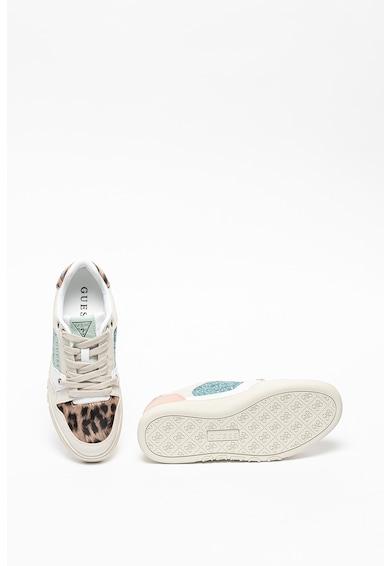 Guess Pantofi sport din piele ecologica cu model colorblock Julien Femei