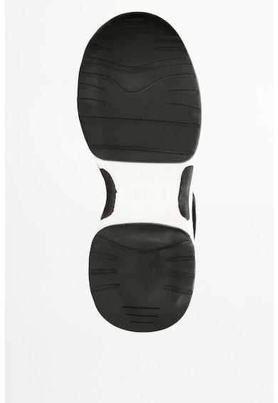 Guess Pantofi sport de piele ecologica cu garnituri de piele intoarsa Jennea Femei