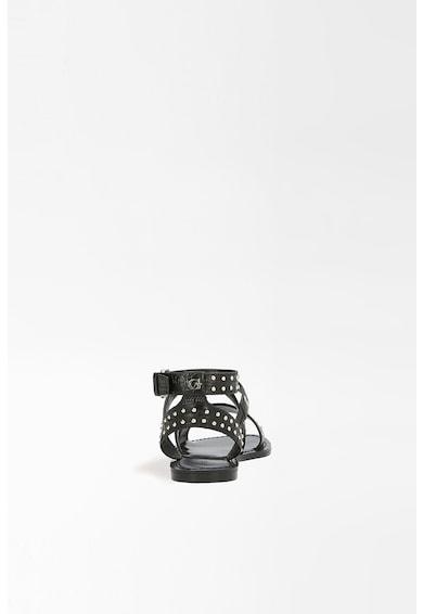 Guess Sandale de piele ecologica cu nituri Femei