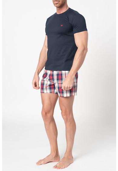 Emporio Armani Underwear Pijama cu pantaloni scurti in carouri Barbati