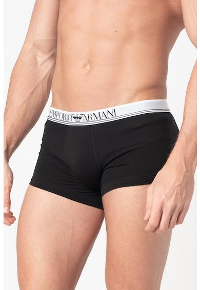 Emporio Armani Underwear Set de boxeri cu banda logo in talie - 3 perechi Barbati
