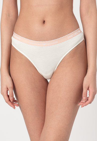 Emporio Armani Underwear Chiloti brazilieni cu segment de dantela Femei