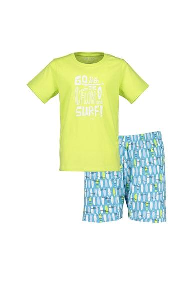 Blue Seven Pijama scurta cu imprimeu grafic si text Baieti