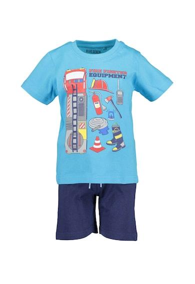 Blue Seven Set de tricou si pantaloni scurti cu imprimeu grafic Baieti