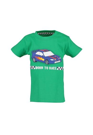 Blue Seven Tricou de bumbac cu imprimeu cu masina Baieti
