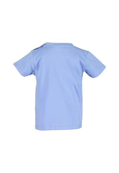 Blue Seven Tricou de bumbac cu decolteu la baza gatului si imprimeu grafic Baieti