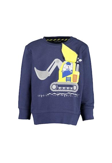 Blue Seven Bluza sport cu decolteu la baza gatului si imprimeu grafic Baieti