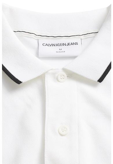 CALVIN KLEIN JEANS CK JEANS, Tricou polo slim fit din material pique Barbati