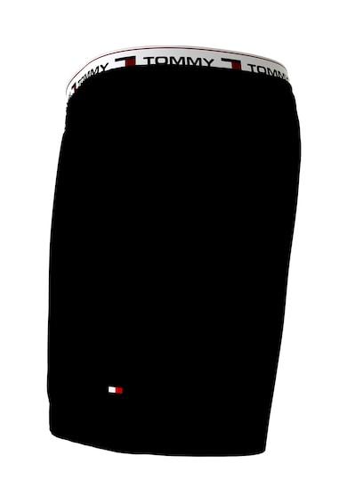 Tommy Hilfiger Pantaloni scurti de baie cu snur si logo in talie Barbati