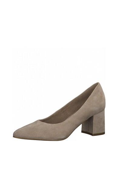Tamaris Pantofi din piele intoarsa cu toc masiv Femei