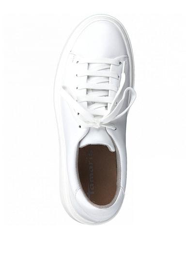 Tamaris Скосени кожени спортни обувки Жени