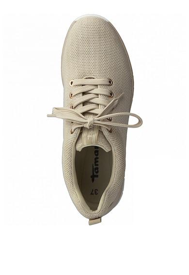 Tamaris Pantofi sport din piele ecologica si plasa Femei