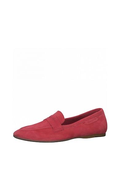 Tamaris Pantofi loafer din piele intoarsa cu logo Femei