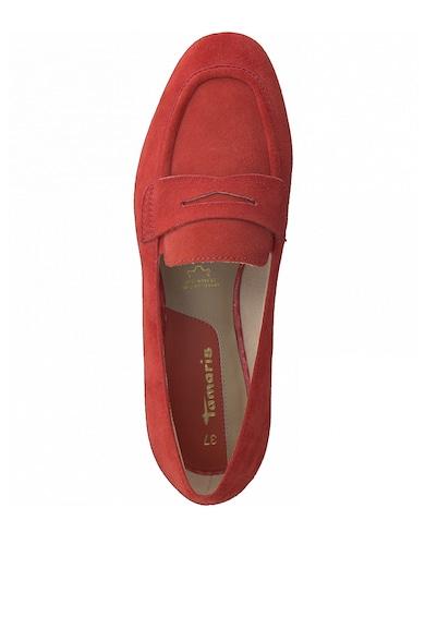 Tamaris Pantofi loafer de piele intoarsa cu decupaj Femei