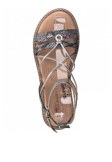 Tamaris Sandale de piele si piele ecologica, cu barete multiple Femei